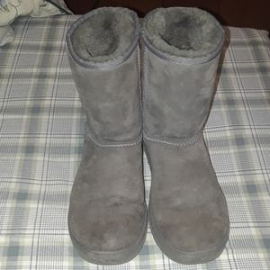 ugg australia 5825 women gray suede sheepskin boot